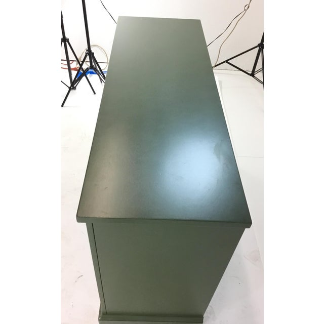 Green Sliding Door Console For Sale - Image 4 of 7