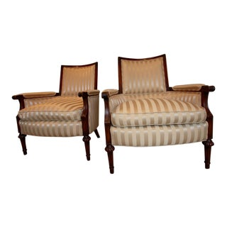 Vintage Bergere Armchairs-A Pair For Sale