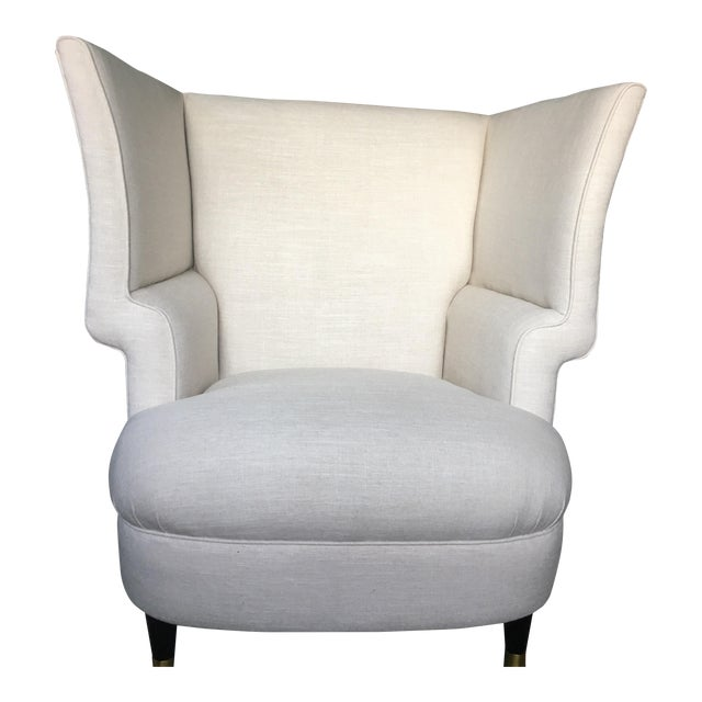 Modernist Linen Chair - Image 1 of 4
