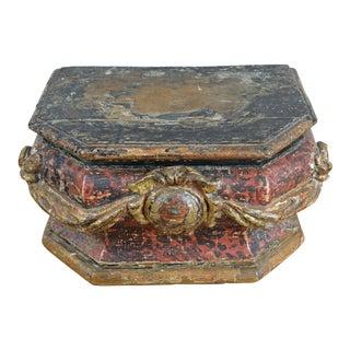 18th Century Italian Oak Alms Box