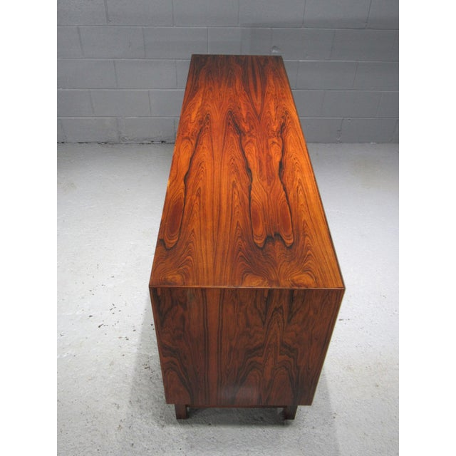 Brown 1960s Danish Modern Bordum Og Nielsen Rosewood Sideboard For Sale - Image 8 of 12