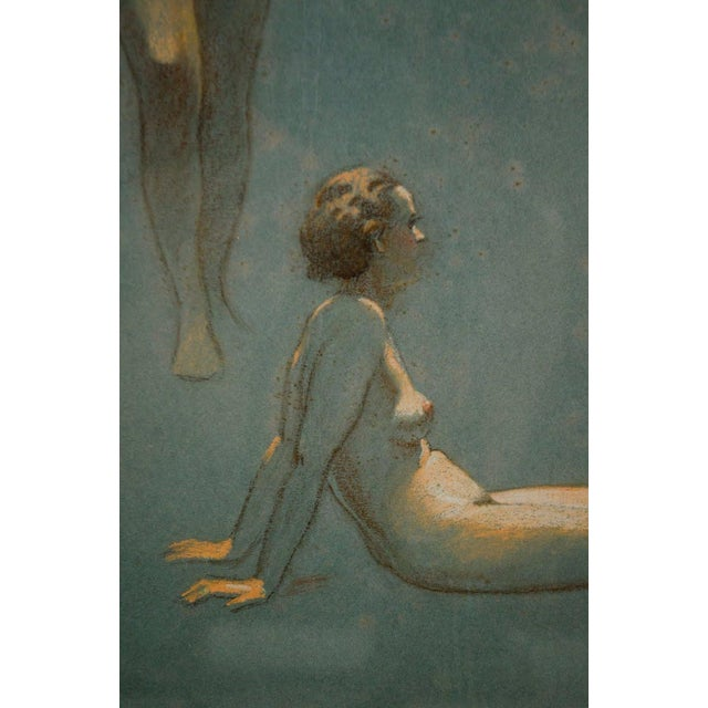 Original Nude Figures Pastel Drawing on Paper by Victor Coleman Anderson For Sale - Image 4 of 11