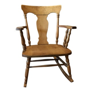 Antique Ladies Urn Back Rocking Chair For Sale