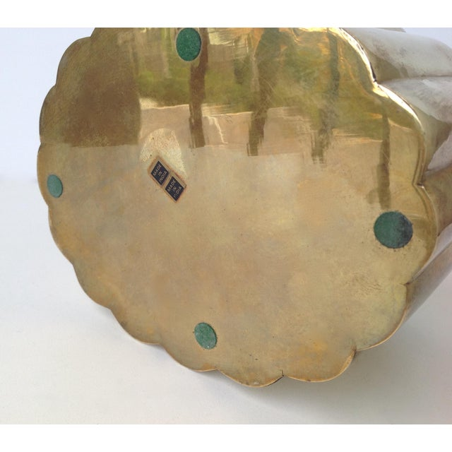 Brass Moorish-Style Tea or Biscuit Container For Sale - Image 10 of 11