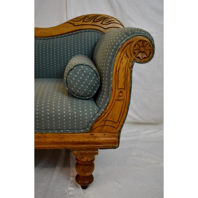 Late 19th Century Irish Pine Camelback Settee For Sale - Image 10 of 13