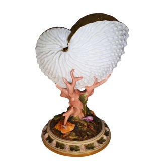Late 19th Century Royal Worcester Porcelain Nautilus Shell Vase For Sale