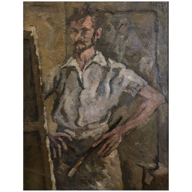 20th Century Abstract Self Portrait Painting by Daniel Clesse For Sale - Image 4 of 4