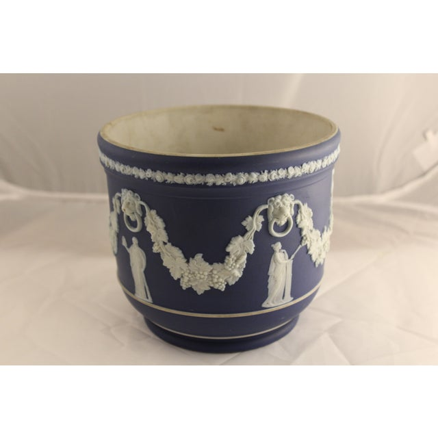 Large Antique Wedgwood Jasper Dip Cache Pot - Image 3 of 5