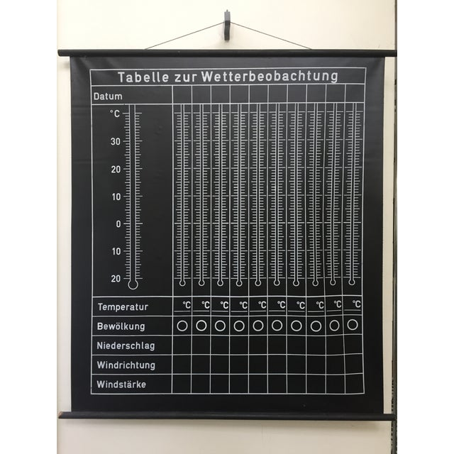1950s Vintage German School Weather Chart For Sale - Image 5 of 5