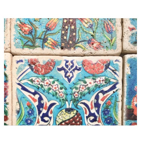 Islamic Stone Turkish Tiles - Set of 20 For Sale - Image 3 of 5