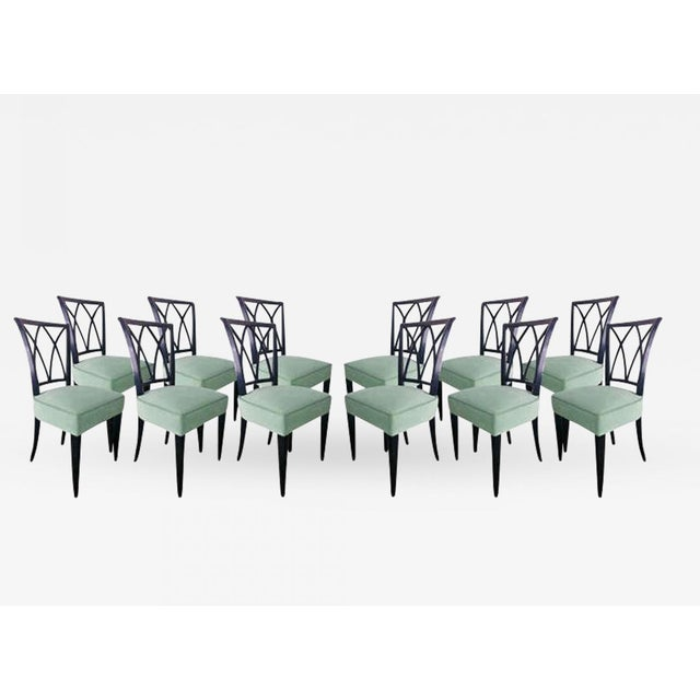 Textile Maurice Hirsch Exceptionnal 1940s Set of 12 Chairs Newly Upholstered For Sale - Image 7 of 7