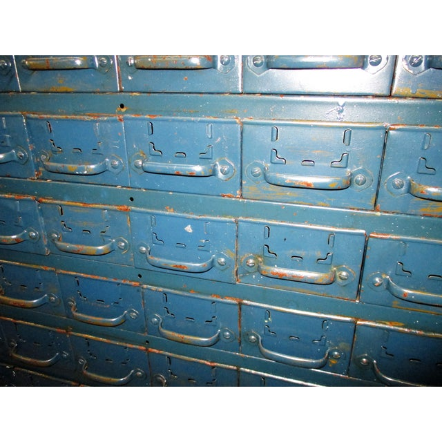 Vintage Industrial Equipto Muti Draw Parts Cabinet For Sale - Image 12 of 13