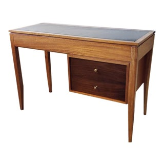 Vintage Teak Lift Top Vanity / Desk by Uniflex C.1962 For Sale