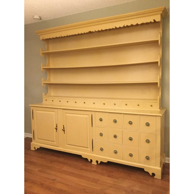 """Vintage Farmhouse """"Breakfront', """"Open Hutch Sideboard' For Sale - Image 13 of 13"""
