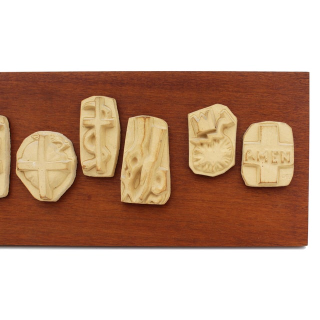 'The Lord's Prayer' Sculpture Panel For Sale - Image 6 of 8
