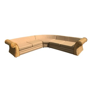 Oversize Natural Rattan Sectional Sofa by O-Asian Designs For Sale