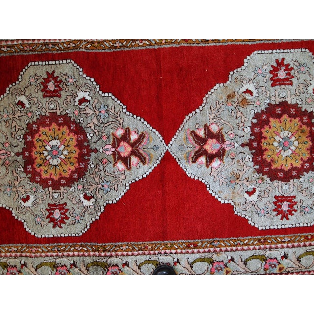 1940s Handmade Vintage Turkish Oushak Runner - 3′7″ × 11′1″ For Sale - Image 10 of 10