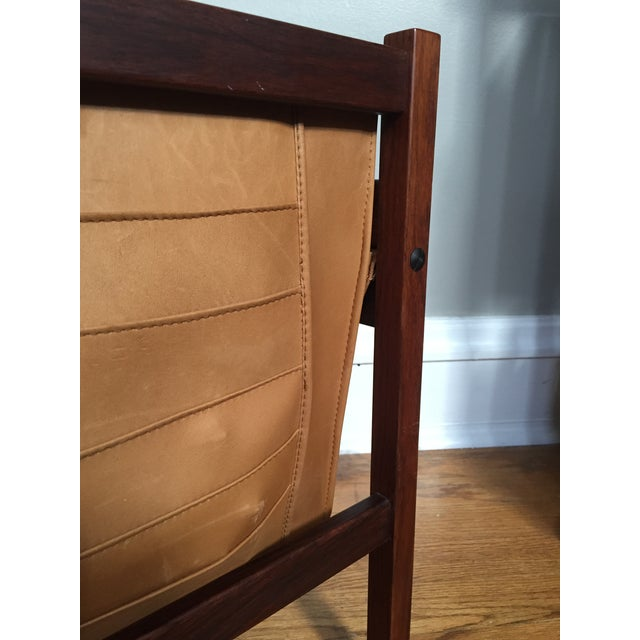 Danish Rosewood & Leather Magazine Rack - Image 7 of 11