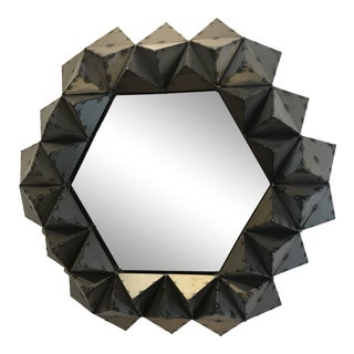 Hand Crafted Spot Welded Pyramid Mirror For Sale
