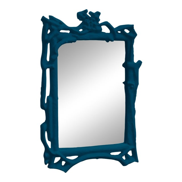 Stray Dog Designs for Chairish Magalie Mirror, Deep Blue For Sale