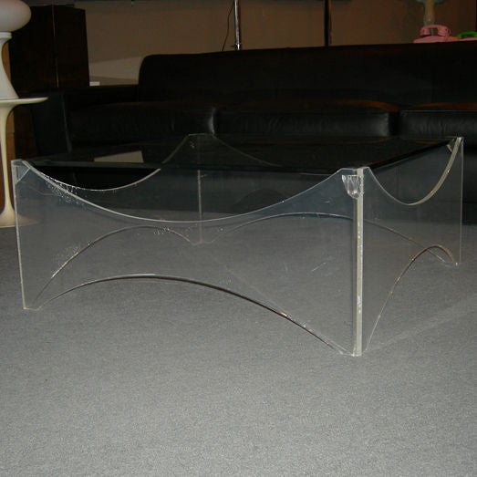Lucite and Glass Coffee Table - Image 5 of 5