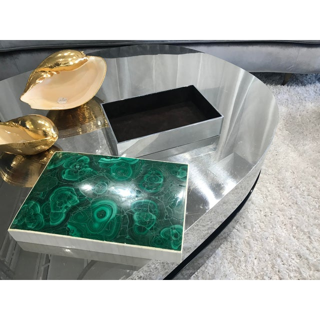 Gemstone Jonson & Marcius Green Malachite Box, 1970s For Sale - Image 7 of 9