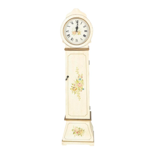 White Grandmother Wooden Clock With Hidden Shelves For Sale