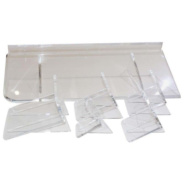 Collection of Lucite Wall Brackets - Set of 6 For Sale - Image 11 of 12