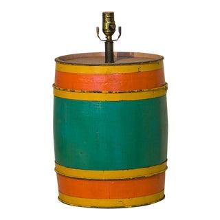 Carnival Barrel Table Lamp For Sale