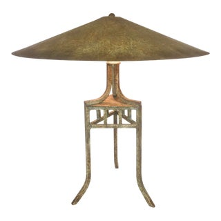 Chinoiserie Handmade Metal Lamp by Fine Arts Lamps For Sale
