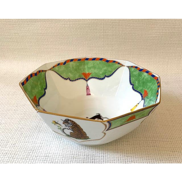 Late 20th Century Vintage Lynn Chase Tiger Raj Octagonal Bowl For Sale - Image 10 of 10