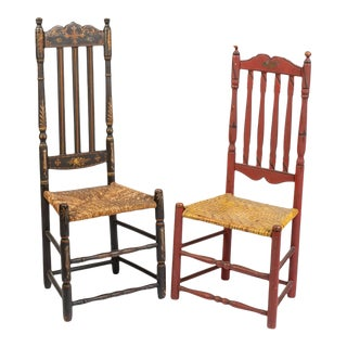 Early 19th Century Bannister Back Chairs - a Pair For Sale