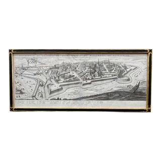 18th Century Map of Dijon, Framed For Sale