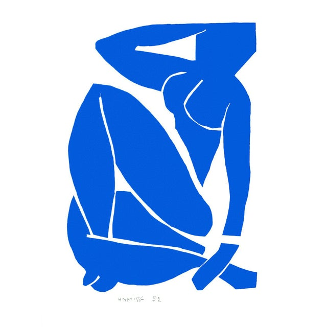 Henri Matisse - Blue Nude 3 - Inspired Silk Hand Woven Flat Weave Area - Wall Rug 4′8″ × 6′10″ For Sale - Image 12 of 12