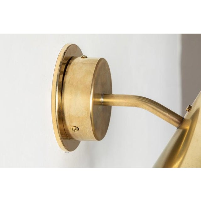 Hans-Agne Jakobsson 'Mini-Tratten' Polished Brass Outdoor Sconces - a Pair For Sale - Image 12 of 13