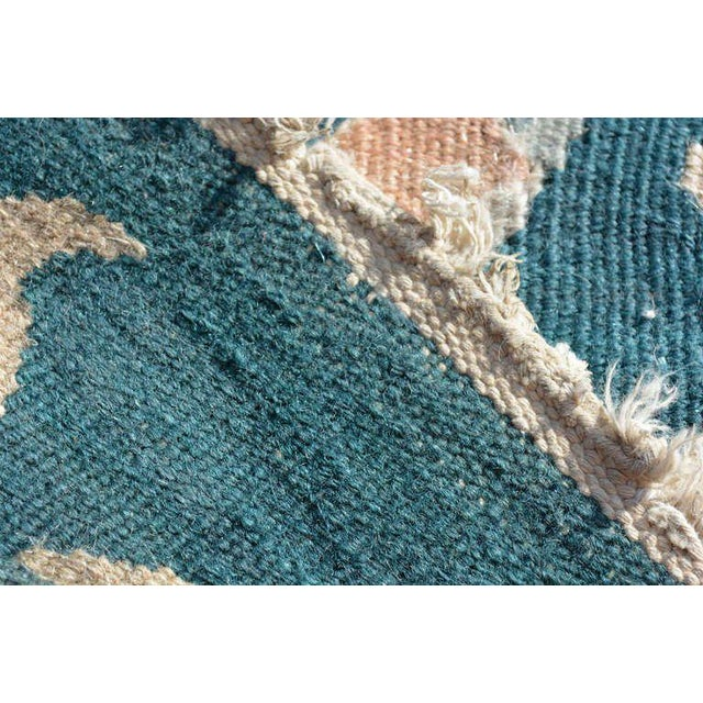 Mid-Century Modern Wall Tapestry Green Rug For Sale - Image 4 of 7