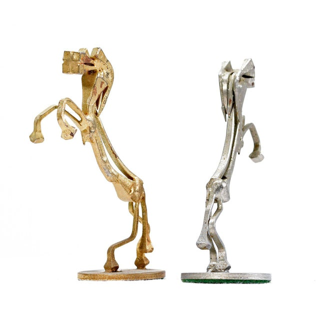 Brutalist Style Handcrafted Steel Nail Silver and Bronze Chess Set For Sale In Tampa - Image 6 of 9