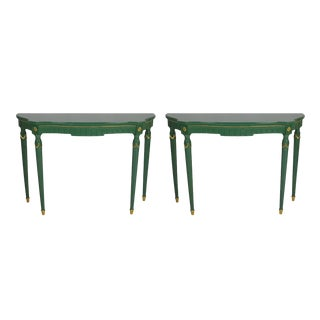 Vintage Neoclassical Console Tables, Pair For Sale