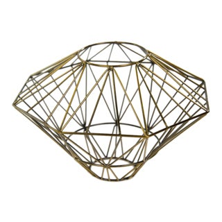 Cut Diamond Shape Candle Holder For Sale
