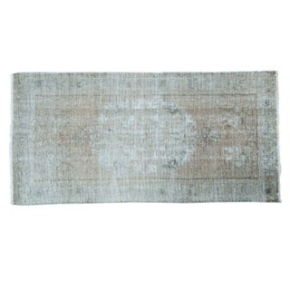 "Distressed Oushak Rug - 3'2"" X 6'4"" For Sale"