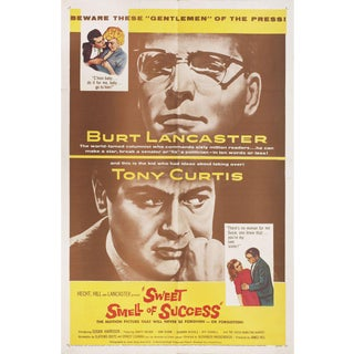 Sweet Smell of Success 1957 U.S. One Sheet Film Poster For Sale