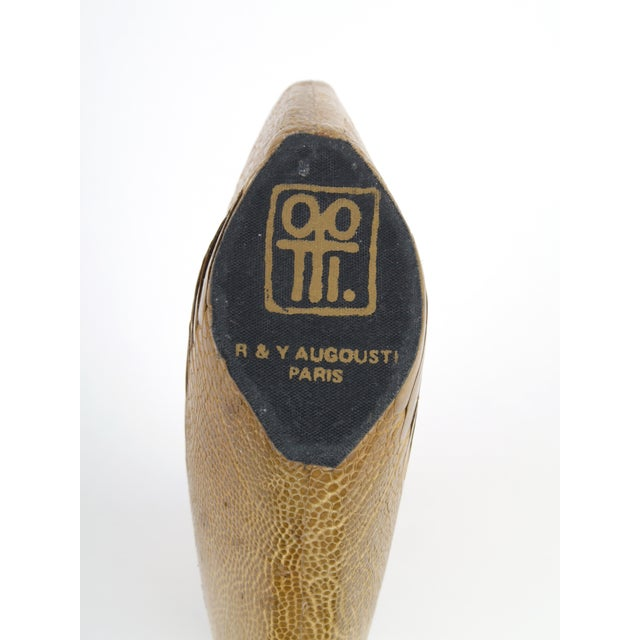 French R & Y Augousti Vase in Ostrich Leather For Sale - Image 3 of 3