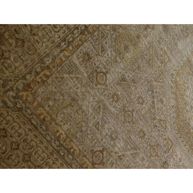 "Tan Mamluk Hand-Knotted Luxury Rug - 7'10"" x 7'11"" For Sale - Image 8 of 10"