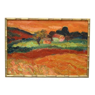 1950s Painting of Countryside Provence For Sale
