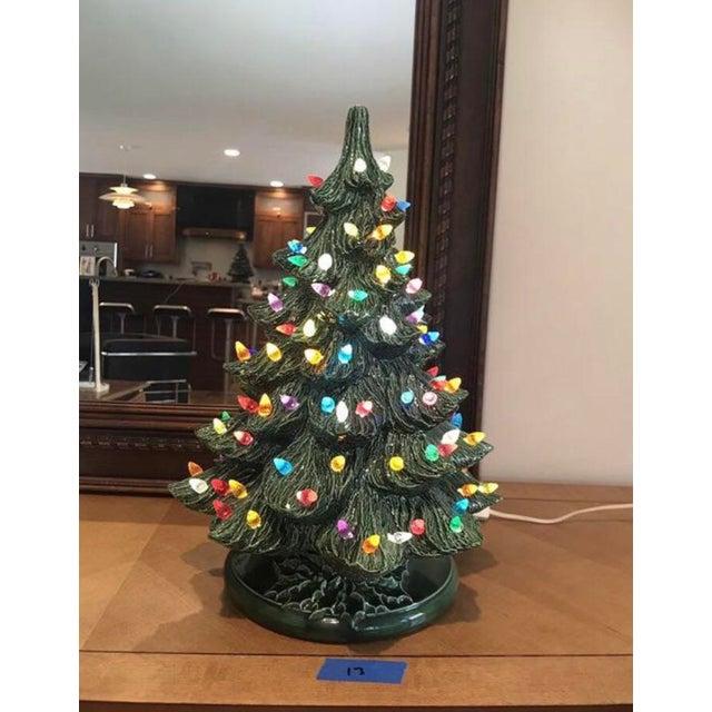 Vintage Ceramic Christmas Tree.Vintage Ceramic Christmas Tree