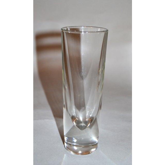 Set of 8 Carlo Moretti Modern Heavy Blown Glass Drinking Glasses Glassware Italy For Sale In Miami - Image 6 of 11