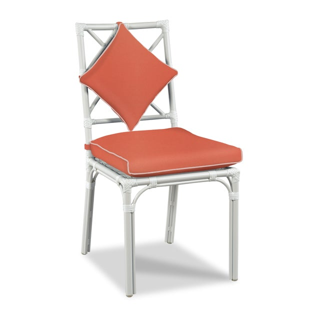 Traditional Haven Outdoor Dining Chair, Melon and Blush For Sale - Image 3 of 3