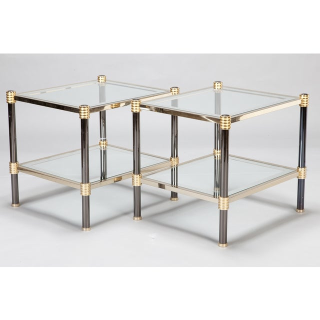 Roche Bobois Chrome & Brass Side Tables - A Pair - Image 2 of 5