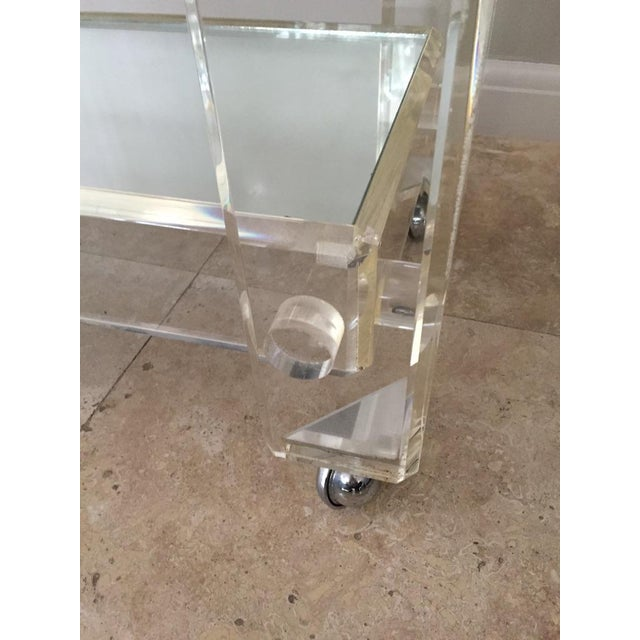 Postmodern 1970s Mid-Century Modern Mirrored Bar Cart Trolley For Sale - Image 3 of 13