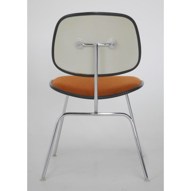 Mid-Century Modern Eames for Herman Miller Padded DCM Chair For Sale - Image 5 of 7